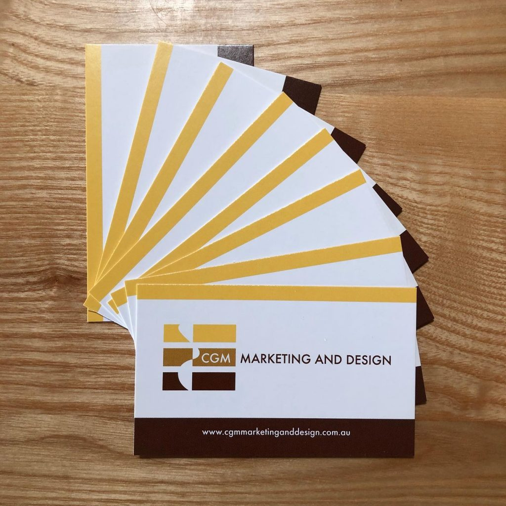 CGM Marketing and Design business card